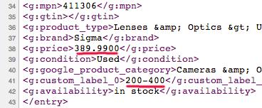 custom label xml 1