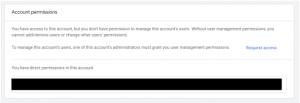 account permissions