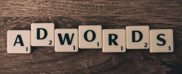 adwords in scrabble pieces