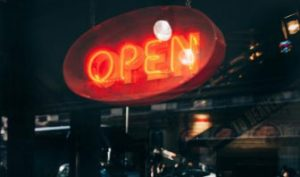 old fashioned open sign