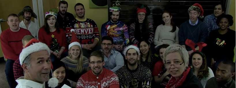 team photo during holidays