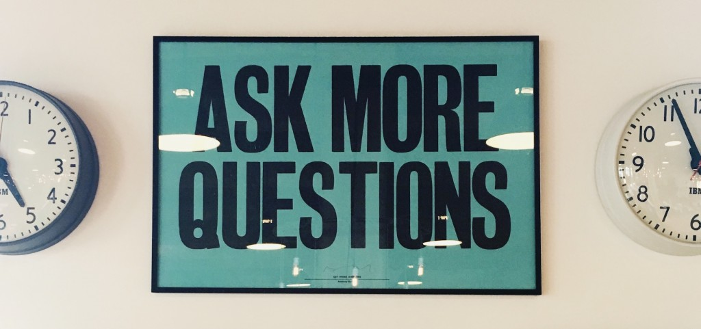 ask more questions poster