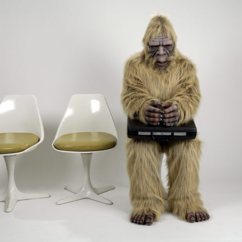 SEO-squatch: Sasquatch waiting for a SEO interview