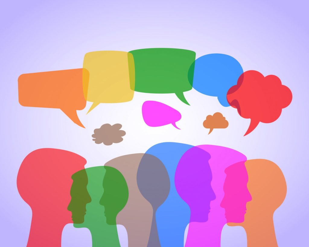 Audience with Speech Balloons