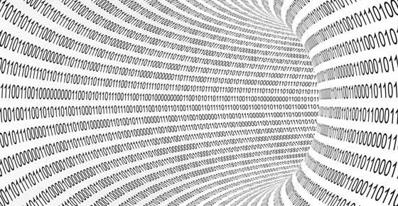 a vortex of zeros and ones