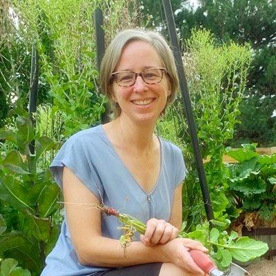 kris candid in a garden