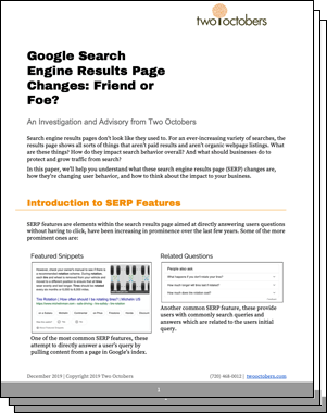 google search engine results whitepaper icon