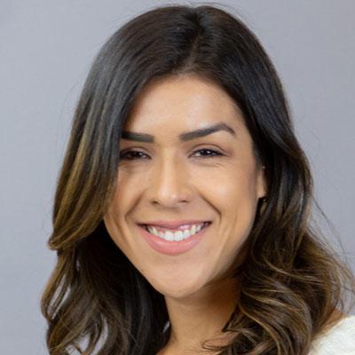 yasmin profile with grey background