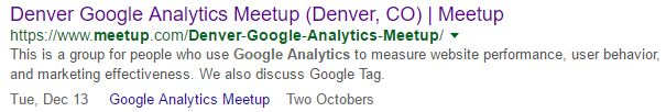 denver google analytics meetup two octobers